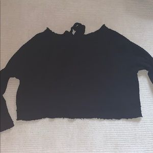 Free people black sweater/ top size xs